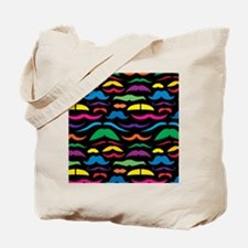 Mustache Retro Tote Bag