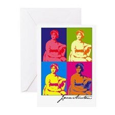 Jane Austen Pop Art Greeting Cards (Pk of 10)