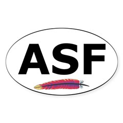 Apache Oval Sticker (with feather)