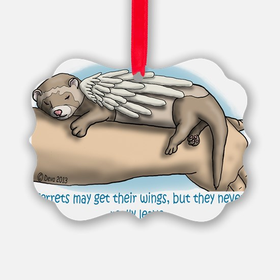 Winged Ferret Ornament