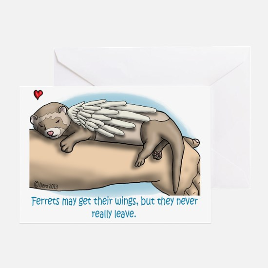 Winged Ferret Greeting Card