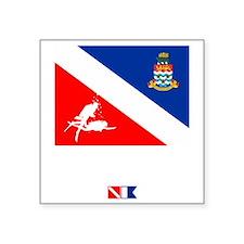 "Dive The Caymans Square Sticker 3"" x 3"""