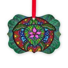 sea turtle painting by Julie Oake Ornament