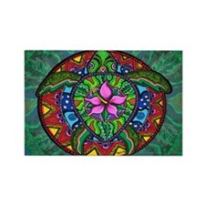 sea turtle painting by Julie Oake Rectangle Magnet