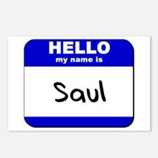 hello my name is saul  Postcards (Package of 8)