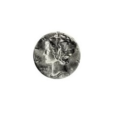 1942 Mercury Dime Mini Button