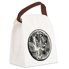 1942 Mercury Dime Canvas Lunch Bag