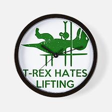 T Rex Hates Lifting Wall Clock