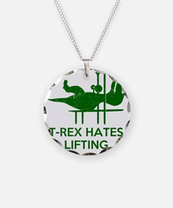 T Rex Hates Lifting Necklace