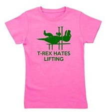 T Rex Hates Lifting Girl's Tee