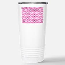 Demask Pink Stainless Steel Travel Mug