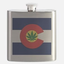 Colorado State Pot Flag Flask