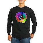 Florescent Art Long Sleeve Dark T-Shirt