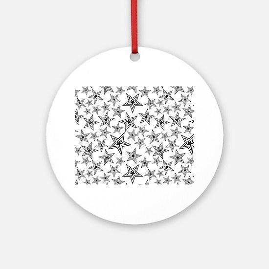 Paulie Star Round Ornament