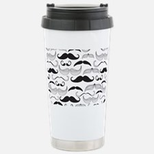 Mustache Black Travel Mug