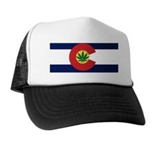 Colorado State Pot Flag Trucker Hat
