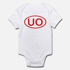UO Oval (Red) Infant Bodysuit