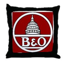 B and O Railroad Throw Pillow