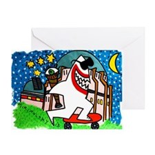 Sharks in the City: Griffith Observa Greeting Card