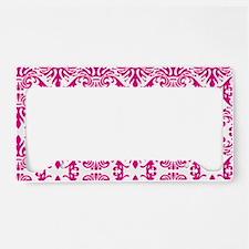 Damask Pink License Plate Holder