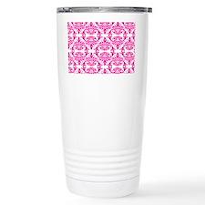 Damask Pink Travel Mug