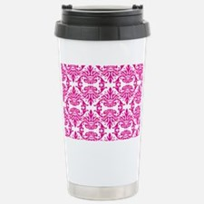 Damask Pink Travel Mug