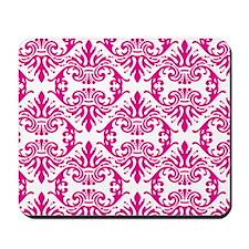 Damask Pink Mousepad
