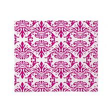 Damask Pink Throw Blanket