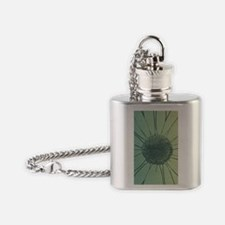 Teal Daisy Flask Necklace