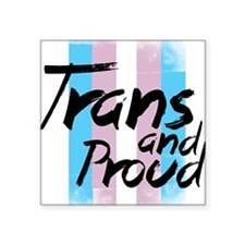 "Trans Small shirt Square Sticker 3"" x 3"""