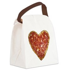 heart pizza Canvas Lunch Bag