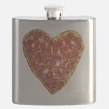 heart pizza Flask