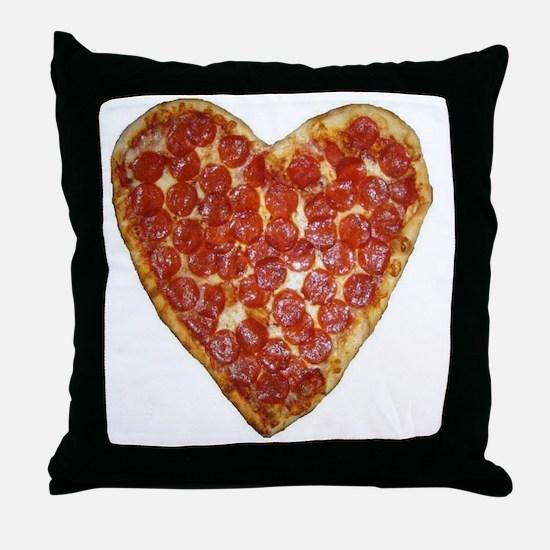 heart pizza Throw Pillow