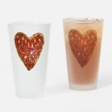 heart pizza Drinking Glass