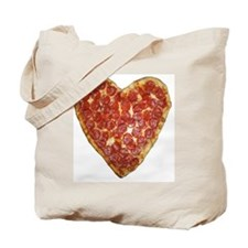 heart pizza Tote Bag