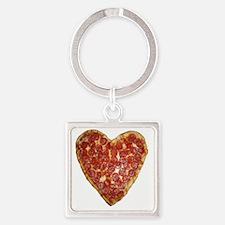 heart pizza Square Keychain