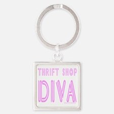 THRIFT SHOP DIVA  T-SHIRTS AND GIF Square Keychain