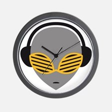 alien_music_head Wall Clock