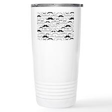Mustache Black Travel Coffee Mug