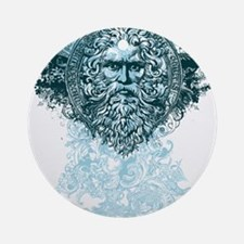 Poseidon King of the Sea Round Ornament