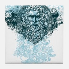 Poseidon King of the Sea Tile Coaster