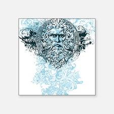 "Poseidon King of the Sea Square Sticker 3"" x 3"""