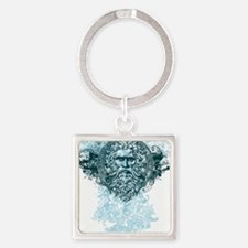 Poseidon King of the Sea Square Keychain