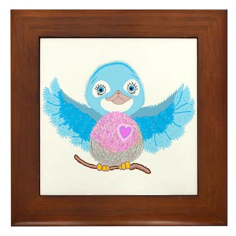 Bluebird Of Happiness Framed Tile