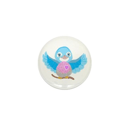 Bluebird Of Happiness Mini Button (10 pack)