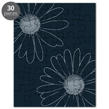 Blue and White Daisies Puzzle