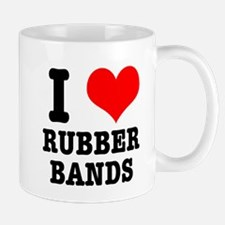 I Heart (Love) Rubber Bands Mug