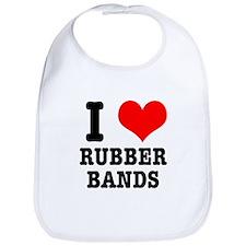 I Heart (Love) Rubber Bands Bib