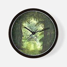 StephanieAM Wood Ray Wall Clock