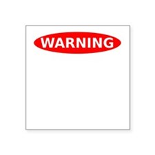 """May Contain Bacon Warning Square Sticker 3"""" x 3"""""""